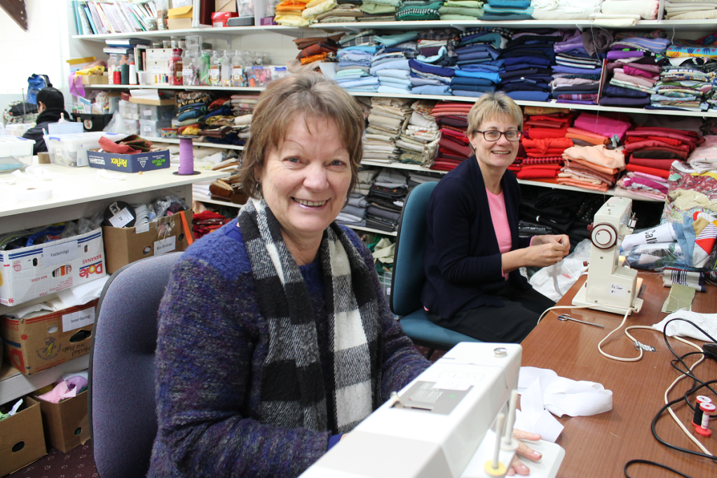 Andrea Bland and Shirley White, Vinnies Re Sew